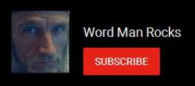 Word Man Rocks on Youtube