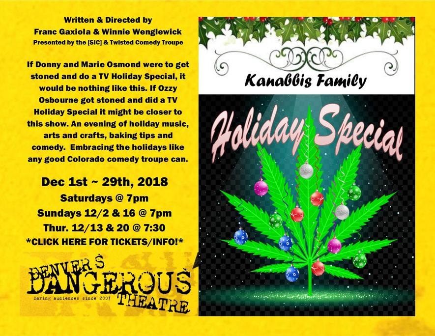 Dangerous Theatre ticketing link for The Kanabbus family holiday special