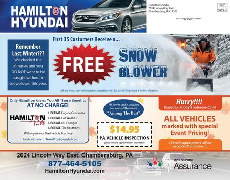Hamilton Hyundai Direct Mailer