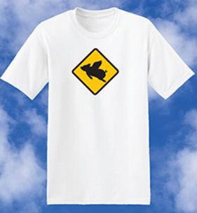 Caution, low flying pig,  Flying Pig, Bacon, Pig Hoof, Low Flying Caution, Fly Baby, Flying Pigs, Hoof, Hog, Ham, Swine, Pig Symbol, tee shirts, tshirts