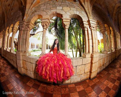 QUINCEANERA PHOTOGRAPHER FOR SPANISH MONASTERY PHOTO SHOOT