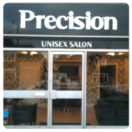 Precision Hair Salon Eastwood Rayleigh Essex Shop Front