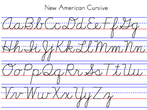 Cursive writing worksheets a-z pdf