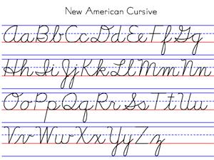 Cursive Alphabet Worksheets