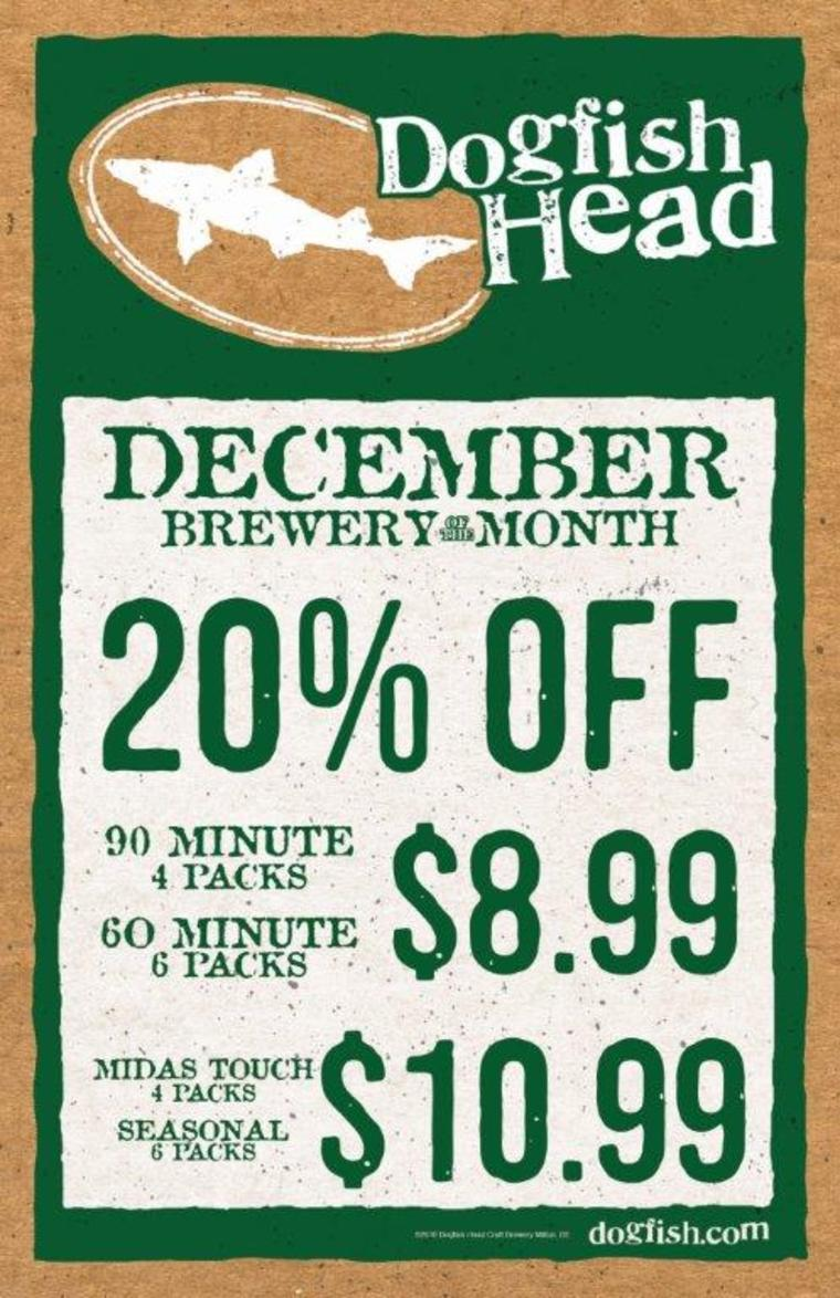 Dogfish Head Brewing - S&V Liquors' December Brewery of the Month Feature!