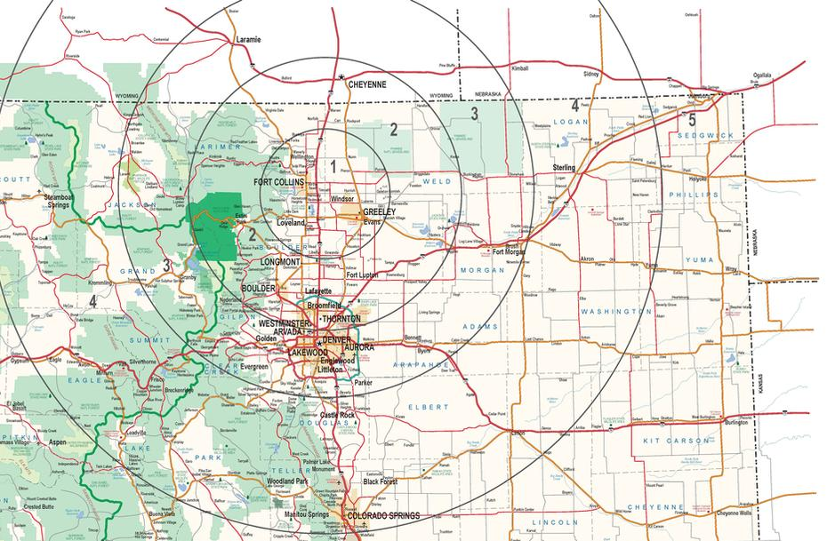 Rocky Mountain Wildlife Services Prairie Dog Service Map