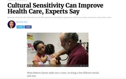 Cultural Sensitivity Can Improve Health Care, Experts Say