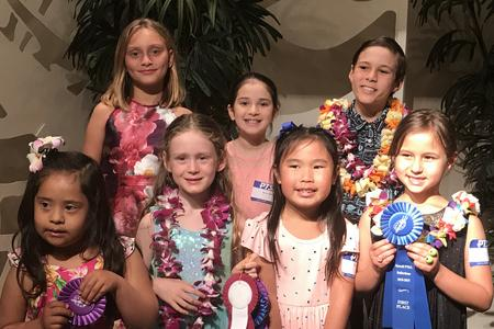 2018/2019 State-wide winners from Kalaheo School at the Awards Banquet on O'ahu