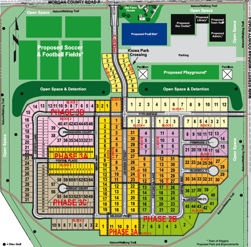 Map Community Plan Kiowa Park Wiggins Colorado