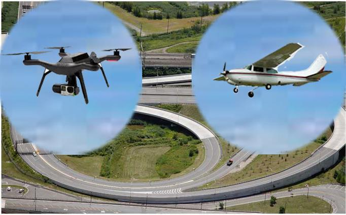 Aerial photographic services via aircraft and unmanned aerial system (Drone)