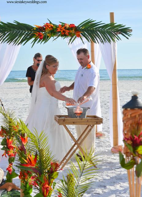 Tropical Beach Wedding - Siesta Key, Florida