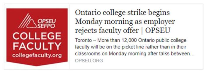 Ontario college strike begins Monday morning as employer rejects faculty offer