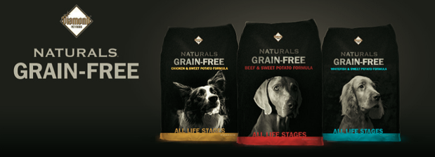 Diamond Natural Grain Free dog food, click to see more information