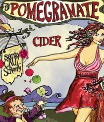 Santa Cruz Scrumpy Pomegranate Cider made with Apples and Pomegranate