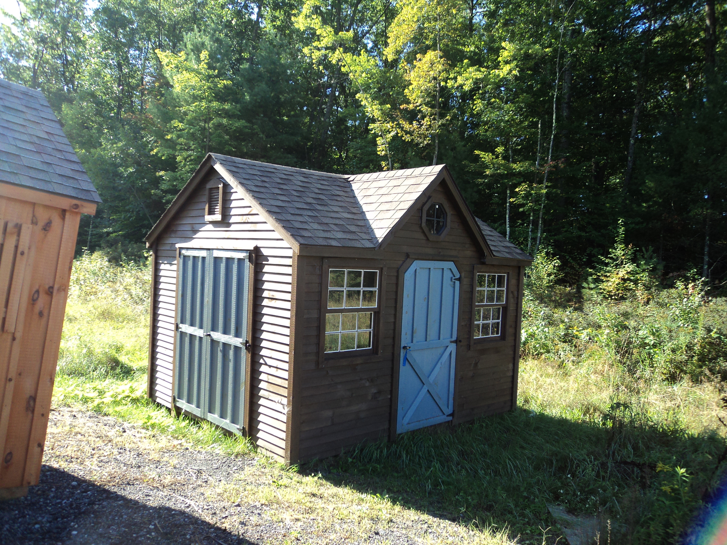 Deluxe with dormer transom windows and cupola -  Shed
