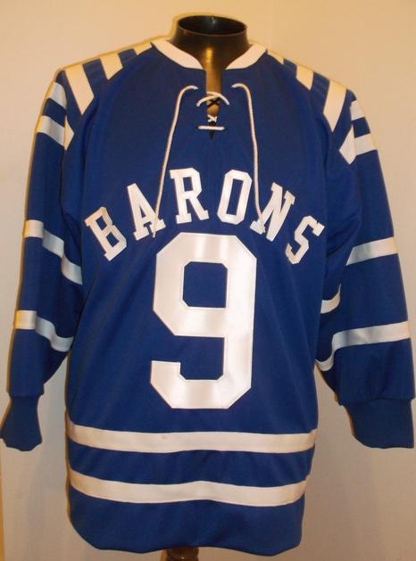 cleveland barons 1950s hockey jersey