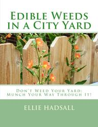 Book, Edible Weeds in a City Yard, handbook on finding and cooking edible weeds. Ellie Hadsall