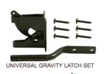 Universal Gravity Latch Set Hardware - Western Red Cedar Wood Fencing Company In Chicago
