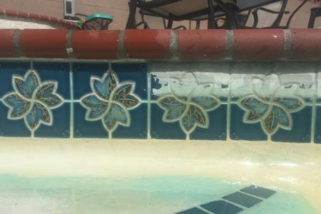 Glass bead blaster pool tile cleaning orange county