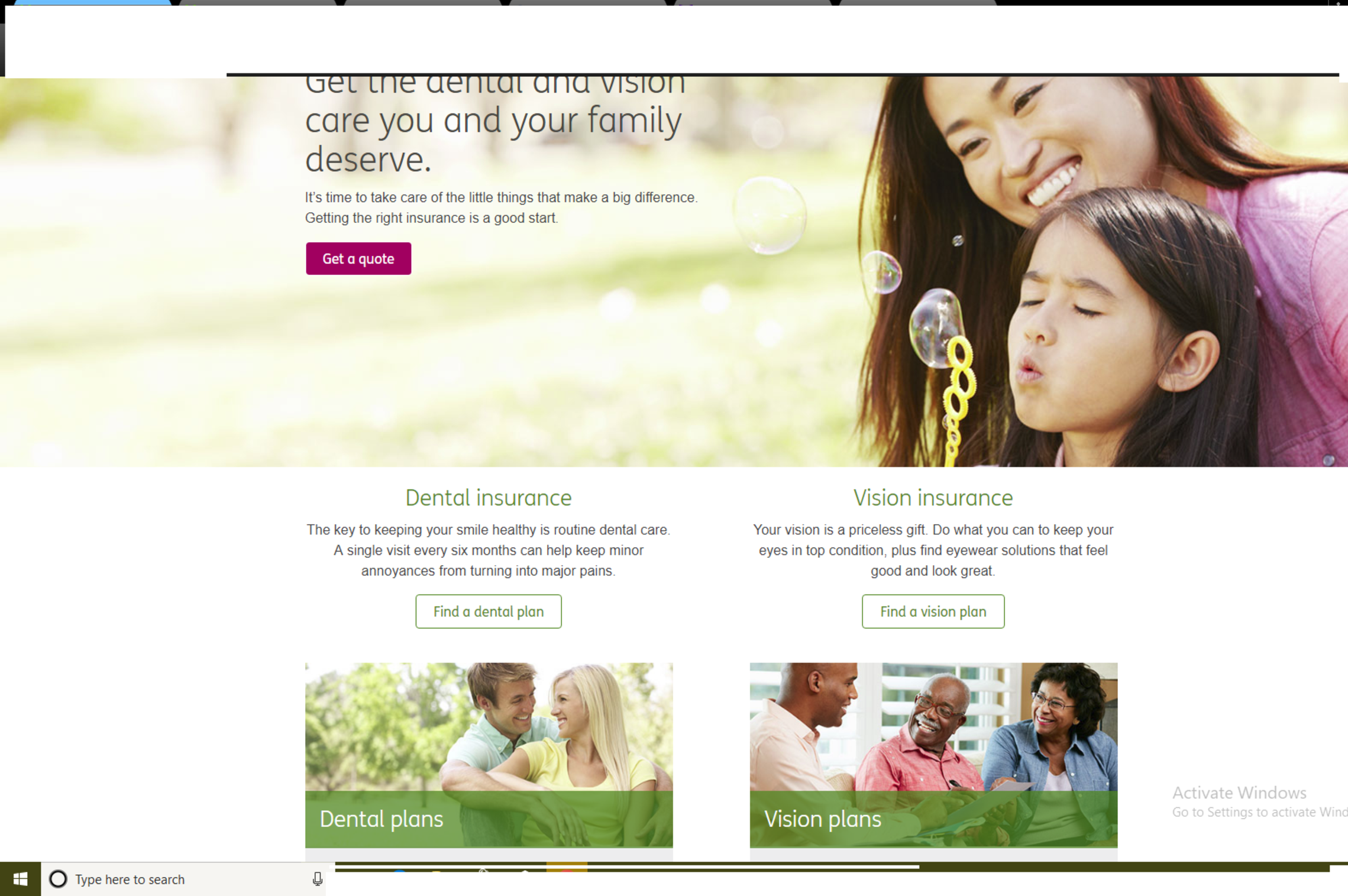 Affordable Dental & Vision Health Insurance