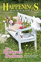 Happenings Magazine Cover May 2017 Issue with article about New Hope and the Wedgwood Inn