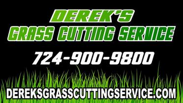 Dereks Grass Cutting Service Logo 724-900-9800