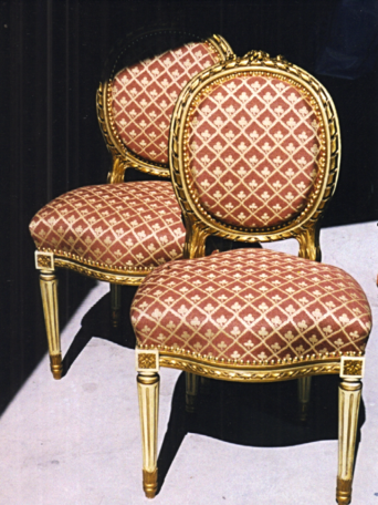 Studio Swiss Louis sixteen french chairs with decorative nails