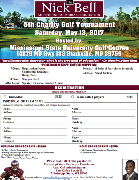 Charity Golf Tournament Online Registration