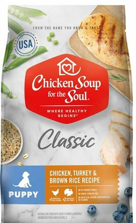 Link to Chicken Soup dog food web page where list of Chicken Soup dog food is described
