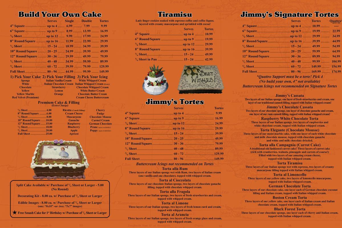 Cakebakery menu cake bakery menu altavistaventures Choice Image