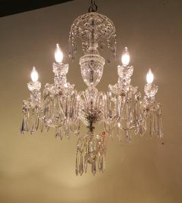 crystal waterford chandelier light fixture cleaning and restoration
