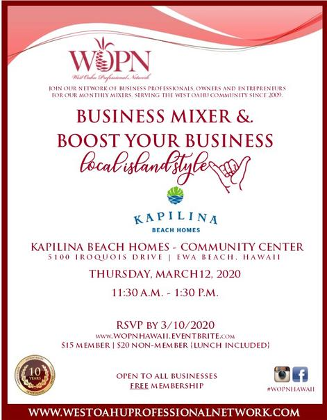 WOPN Hawaii Business Networking Mixer