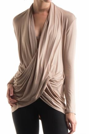 Taupe Crossover Top