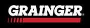 Black, Red, and White logo for Grainger.