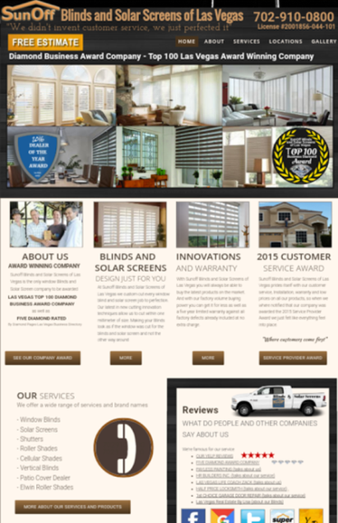 SunOff Blinds of Las Vegas website link