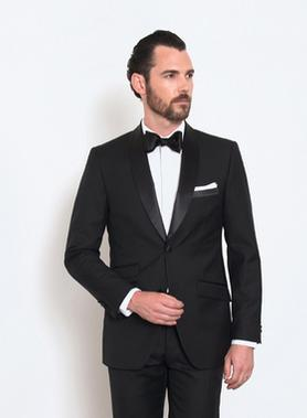 The Wedding Parlour traditional, modern and slim tuxedo and suit silhouette description.