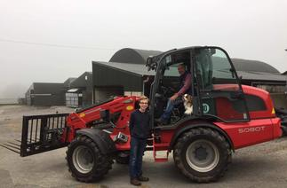 Karl Shorten with his Weidemann 5080T