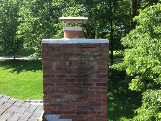 EXCELLENT CHIMNEY CROWN REPAIR SERVICE AND COST IN IN BELLEVUE NEBRASKA LINCOLN HANDYMAN SERVICES