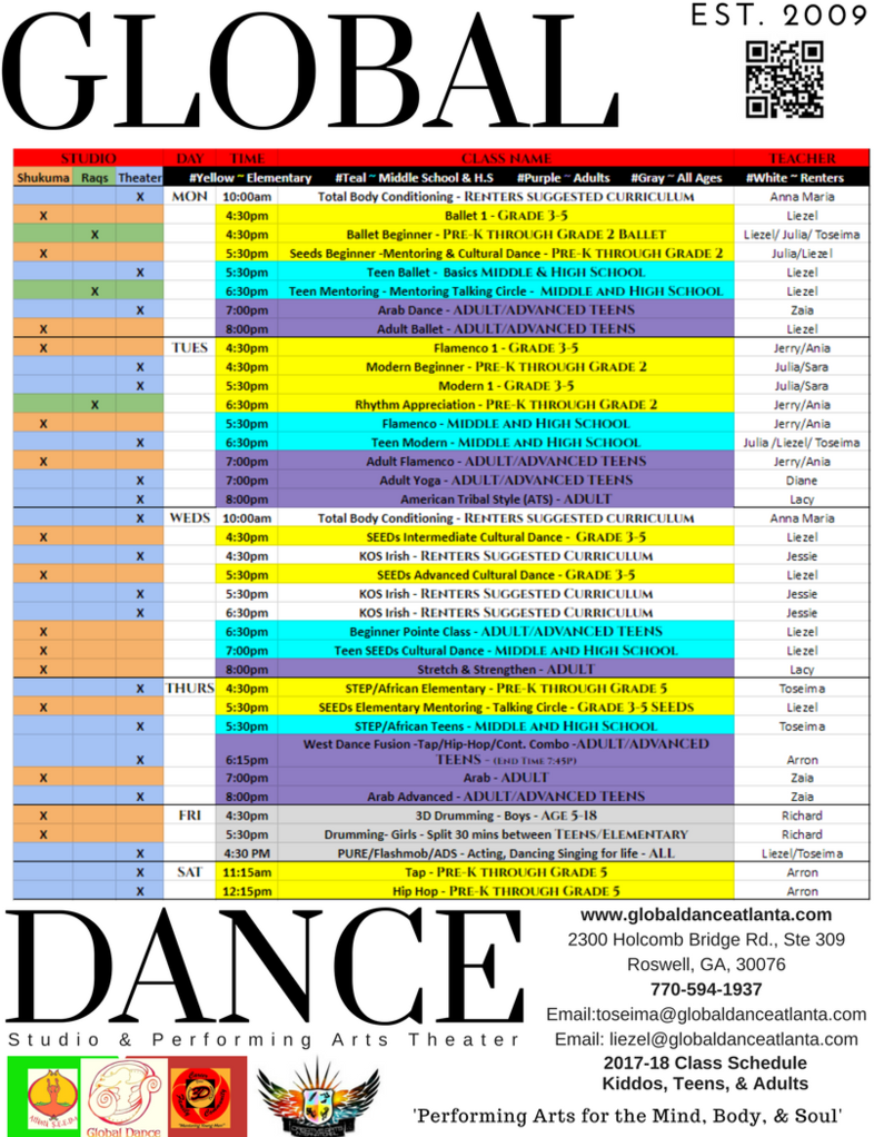 Register for Classes at Global Dance