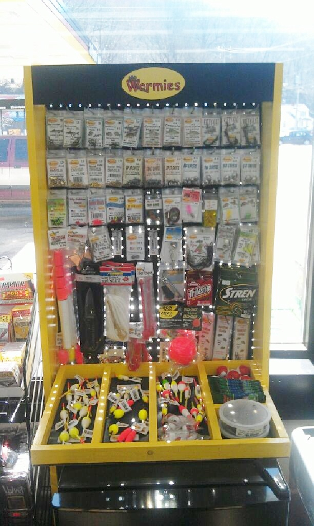 Convienence Store, gas station, live bait, worms,tackle