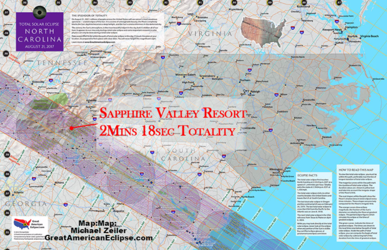 2017 Total Solar Eclipse Maps and info  Sapphire Valley Resort
