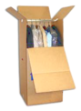 Wardrobe box used by our professional packing service in Oklahoma.