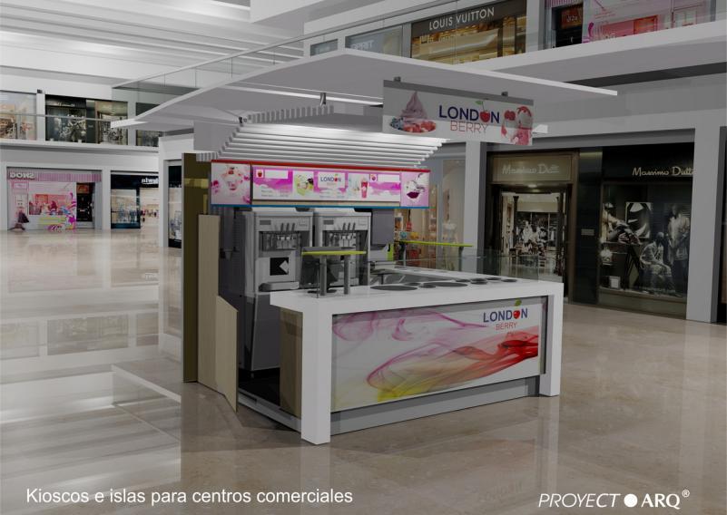 Kioscos e islas para centros comerciales plazas for Diseno de kioscos en madera