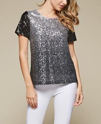 Ombre Sequin Top