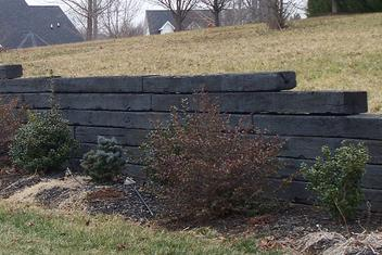 Railroad Tie Retaining Wall