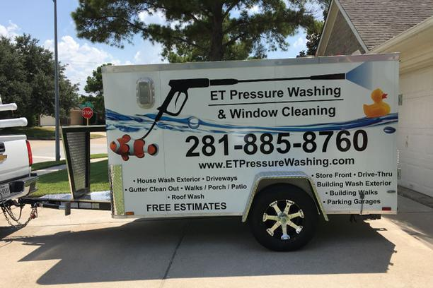 pressure washing and window cleaning trailer