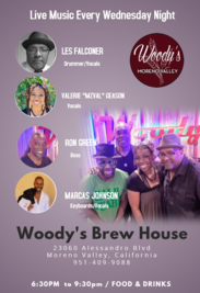 Flyer for Woody's Brewhouse