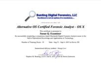 Steve Bunting Macintosh Digital Forensics Course Alternative OS Certified Forensic Analyst