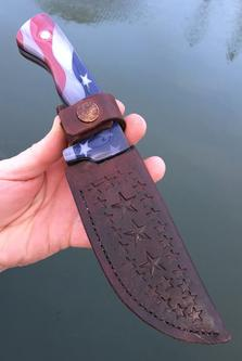 How to make easy DIY leather knife sheaths. FREE step by step instructions. www.DIYeasycrafts.com