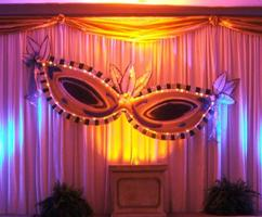 Masquerade Themed Decor for a Nashville Prom